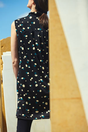 Picture of collar dress in acorn print