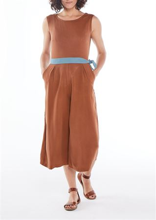 Picture of  wrap jumpsuit in rusty brown