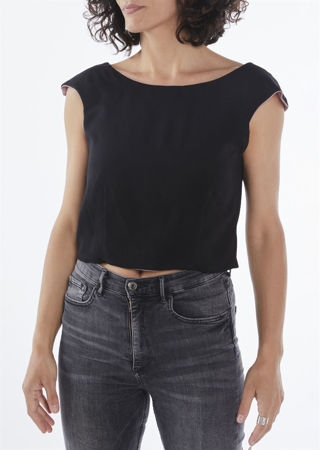 """Picture of """"curves"""" double faced crop top"""