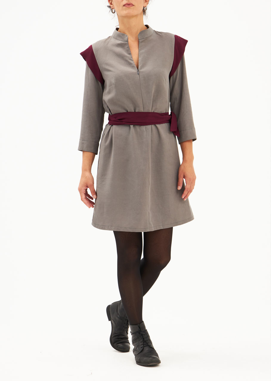 """Picture of """"ΚΙΜ"""" dress in grey magenta"""