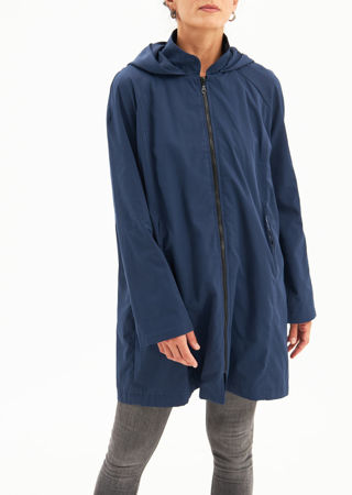 Picture of Water  resistant  long jacket in blue